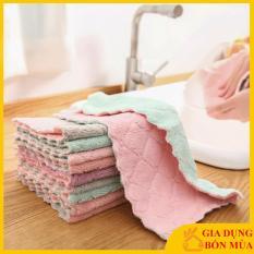 [LOẠI XỊN] Combo 2 Chiếc Khăn Lau Chén Bát Đa Năng, Khăn lau chùi nhà bếp sạch mượt dễ giặt sạch, thấm hút cực tốt