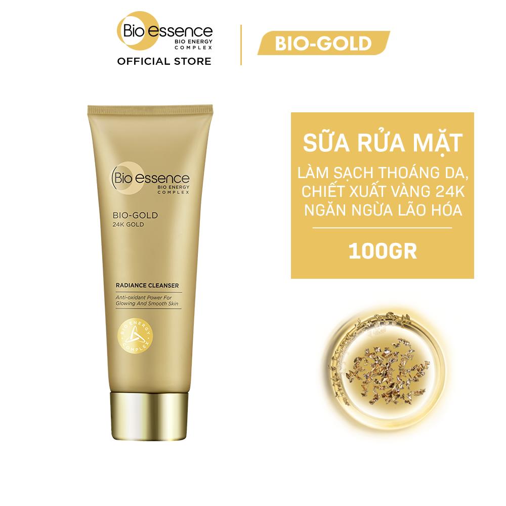 Sữa rửa mặt ngăn ngừa dấu hiệu lão hóa chiết xuất vàng sinh học 24K Bio-Gold Bio-essence 100gr