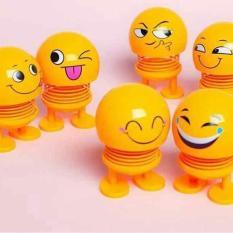 Bộ 9 Thú nhún Emoji Lò Xo lắc đầu hình biểu tượng cảm xúc- Trang trí xe ô tô, bàn làm việc – GIAO MÀU NGẪU NHIÊN