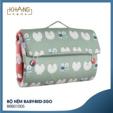 [TẶNG TÚI ĐỰNG] Bộ Nệm Trẻ Em Tiện Lợi Khang Home Baby-Bed-2Go