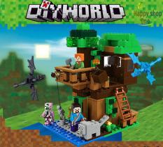 Lego Minecraft 💖Lego Minecraf My World 💖 Minecaft Nhà Trên Cây 💖 Minecaft 356-5 (1,2,3,4,6)
