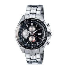 Đồng hồ cao cấp Curren 8023 dây trắng mặt đen