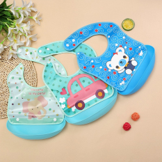 Yếm máng ăn dặm có thể tháo rời cho bé, đồ dùng ăn dặm cho bé, mẹ và bé, đồ dùng cho bé, (DYF), Huy Linh