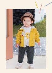 Áo khoác gió 2 lớp cho BÉ tạo hình con GÀ con có mũ trùm đầu cho bé – FULL SIZE cho bé