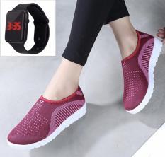 Giày thể thao nam siêu thoáng nam nữ lười Sportmax SPM905626D – Đen + Tặng Đồng hồ Led táo thời trang thể thao