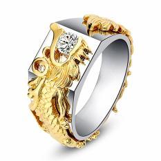 Nhẫn Titan Chạm Khắc Rồng, Đem Lại May Mắn Tài Lộc, Màu Bền Theo Thời Gian RBRONGZIRCON