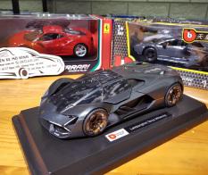 Mô hình siêu xe Lamborgini Terzo Millennio tỉ lệ 1:24 hãng Burago màu đen