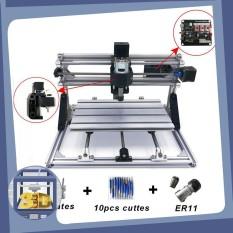 Máy phay gỗ CNC mini 3018 (combo laser diode) + 10 mũi phay PCB + 4 Set plates + ER11 + USB hướng dẫn