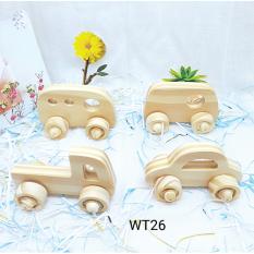 Đồ chơi gỗ bộ xe 4 chiếc (WT026)