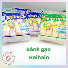 [DATE 31/12/2021] Bánh gạo tươi Haihain cho bé ăn dặm nội địa Nhật, vị sữa và vị rau củ bổ sung canxi và DHA