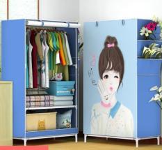 Tủ vải quần áo cao cấp mẫu mới 1 buồng 2 ngăn giá rẻ Tủ treo quần áo khung inox nhiều màu mẫu siêu bền đẹp tiện lợi hơn tủ nhựa tủ gỗ – TQA