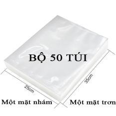 Bộ 50 Túi Hút Chân Không Một Mặt Nhám, Một Mặt Trơn (25cmx35cm)