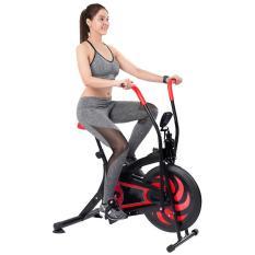 Xe đạp tập thể dục Air Bike MK126 (Màu Đỏ Đen)