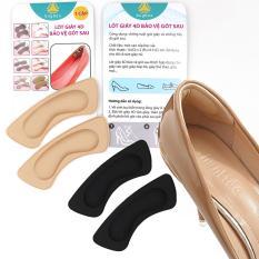 2 cặp Lót giày 4D bảo vệ gót sau chống trầy da và chống tuột gót – loại vuông – buybox BBPK53-2