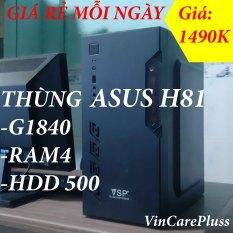 [Giá rẻ mỗi ngày] Thùng máy tính Main H81, Ram 4G, HDD 500GB, CHÍP G1840