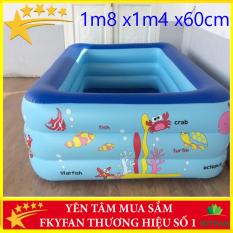 TẶNG VOUCHER 40K (SALE LỚN 3 NGÀY) Bể Bơi cho bé , bể bơi trẻ em 3 tầng bể bơi phao người lớn loại 1M8 chống trơn trượt , Bể Bơi Trong Nhà cao cấp 1m80x1m40x60cm bể bơi Cho Trẻ Tập Bơi Bể bơi phao 3 Tầng cỡ lớn: hồ bơi