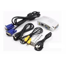 Bộ chuyển đổi VGA vi tính sang Tivi AV PC to TV Converter,Hộp chuyển đổi tín hiệu từ VGA sang SVIDEO – AV (Trắng), Thiết bị âm thanh, Thiết bị chuyển đổi