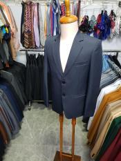 Bộ vest nam 2 nút màu xanh đen dày mịn