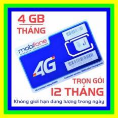 SIM 4G MOBIFONE TRỌN GÓI 1 NĂM – SIM 4G MOBI TẶNG 4GB/THÁNG KHÔNG CẦN NẠP TIỀN – SHOP SIM GIÁ RẺ