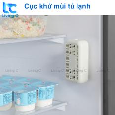 Khử mùi tủ lạnh than hoạt tính Living C, tẩy sạch mùi tủ lạnh , tủ giày , quần áo , ô tô với miếng hút chân không HM