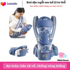 [Lấy mã giảm thêm 30%]Đai Địu ngồi cho bé (0 – 48 tháng) có bệ ngồi đai đỡ đầu và ngăn chứa đồ – Bảo vệ xương chống gù lưng- [Mikit-House]