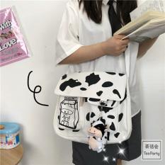 [Tăng Móc Khóa]Túi đeo chéo nam nữ vải canvas đi học đi làm mang phong cách Hàn Quốc