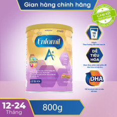 [FREESHIP 30K HCM,HN] [Dễ tiêu hóa và hấp thụ] Sữa bột Enfamil A+ Gentle Care 3 800g dành cho trẻ 12 -24 tháng – Cam kết HSD còn ít nhất 10 tháng