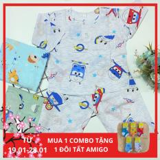 Combo 2 bộ quần áo trẻ em – Đồ bộ Bé Trai Tay Dài vải Tole, lanh 2 da cao cấp (loại 1), size 1 đến 12 cho bé 5 đến 34kg, hàng Việt Nam chất lượng cao