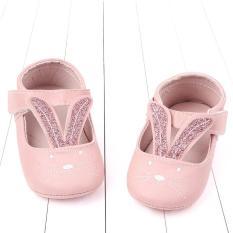 Giày búp bê tai thỏ đế cao su chống trượt cho bé(6-12 tháng)