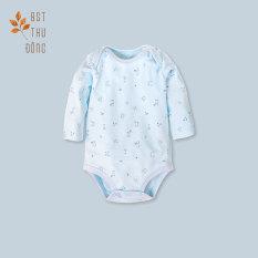 Bodysuit tay dài Mèo Mây dày xanh – Miomio – Dành cho bé từ 0-24 tháng