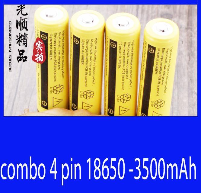 Giá pin sạc 18650 dung lượng 3500mAh- combo 4 pin Tại tuệ hân shoop