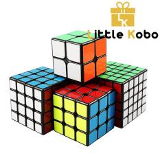 Combo 4 Rubik Viền Đen 2×2 3×3 4×4 5×5 Hàng Đẹp, Xoay Trơn, Siêu Bền Rubic Sticker Đồ Chơi Thông Minh QiYi