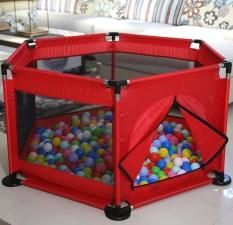 CŨI CHO BÉ – Quây bóng quây cũi khung Inox cho bé – tặng kèm 15 bóng