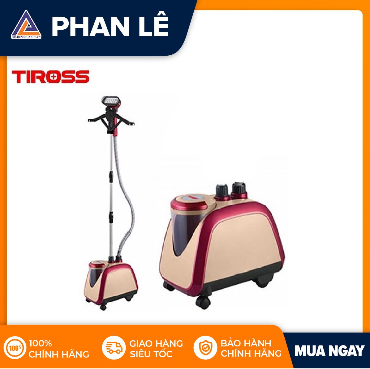 Bàn ủi hơi nước đứng Tiross TS861 (Hồng)