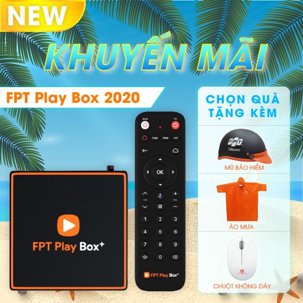 FPT PLAY BOX 2020 + Android 10 + 4K Model T550 RAM 2GB Có Điều Khiển Bằng Giọng Nói+ Quà tặng 400K