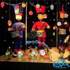 Decal Dán Tường Dán Kiếng Đoàn Tàu Noel Trang Trí Giáng Sinh XL823 Không Bị Hư Tường