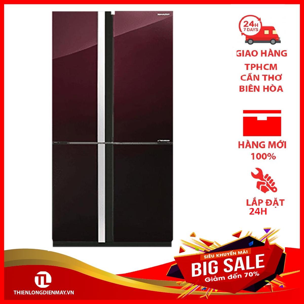 TRẢ GÓP 0% – Tủ lạnh Sharp Inverter 678 lít SJ-FX688VG-RD – Bảo hành 12 tháng