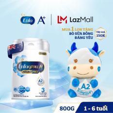 Bộ 1 lon Sữa bột Enfagrow A2 Neuropro 3 cho trẻ từ 1 – 6 tuổi – 800g -Tặng 1 bò sữa bông đáng yêu
