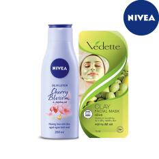 (Quà tặng không bán) Mặt nạ Vedette và Sữa dưỡng thể Nivea