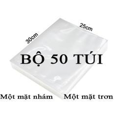 Bộ 50 Túi Hút Chân Không Một Mặt Nhám, Một Mặt Trơn (25cmx30cm)