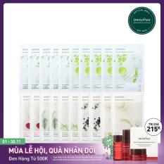 Combo 10+10 Mặt Nạ Giấy Dưỡng Ẩm Phục Hồi Da Innisfree My Real Squeeze Mask
