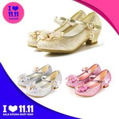 Giày cao gót giày công chúa óng ánh siêu xinh cho bé gái