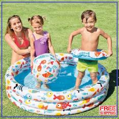 Bể Bơi bơm hơi 3 chi tiết, Bể Phao Bơm Hơi Cỡ Lớn, Phao Bơi Trong Nhà 132x28cm, nhà bóng- BH UY TÍN 1 đổi 1