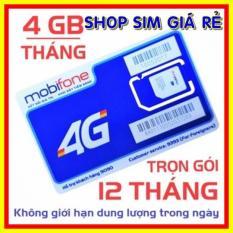 SIM 4G MOBIFONE TRỌN GÓI 1 NĂM KHÔNG NẠP TIỀN – SIM 4G MOBI TẶNG 4GB/THÁNG – SHOP SIM GIÁ RẺ MDT