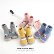 (GB19) Giày bún hình thú cao cổ bé trai và bé gái(hình thú Ôto sieu dễ thương) hàng Quảng Châu cao cấp