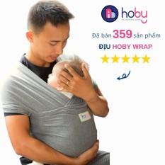 Địu vải cho bé Hoby Wrap, địu vải bằng cotton cho em bé sơ sinh, dễ dàng áp dụng phương pháp Kangaroo Care, Skin to Skin