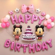 Trang trí sinh nhật – Phụ kiện trang trí sinh nhật – Đồ trang trí sinh nhật – Bong bóng trang trí sinh nhật – Chữ happy birthday – Sét trang trí sinh nhật – Sinh nhật cho bé – Chuột mickey, kitty- Bộ bóng trang trí sinh nhật bé trai, bé gái