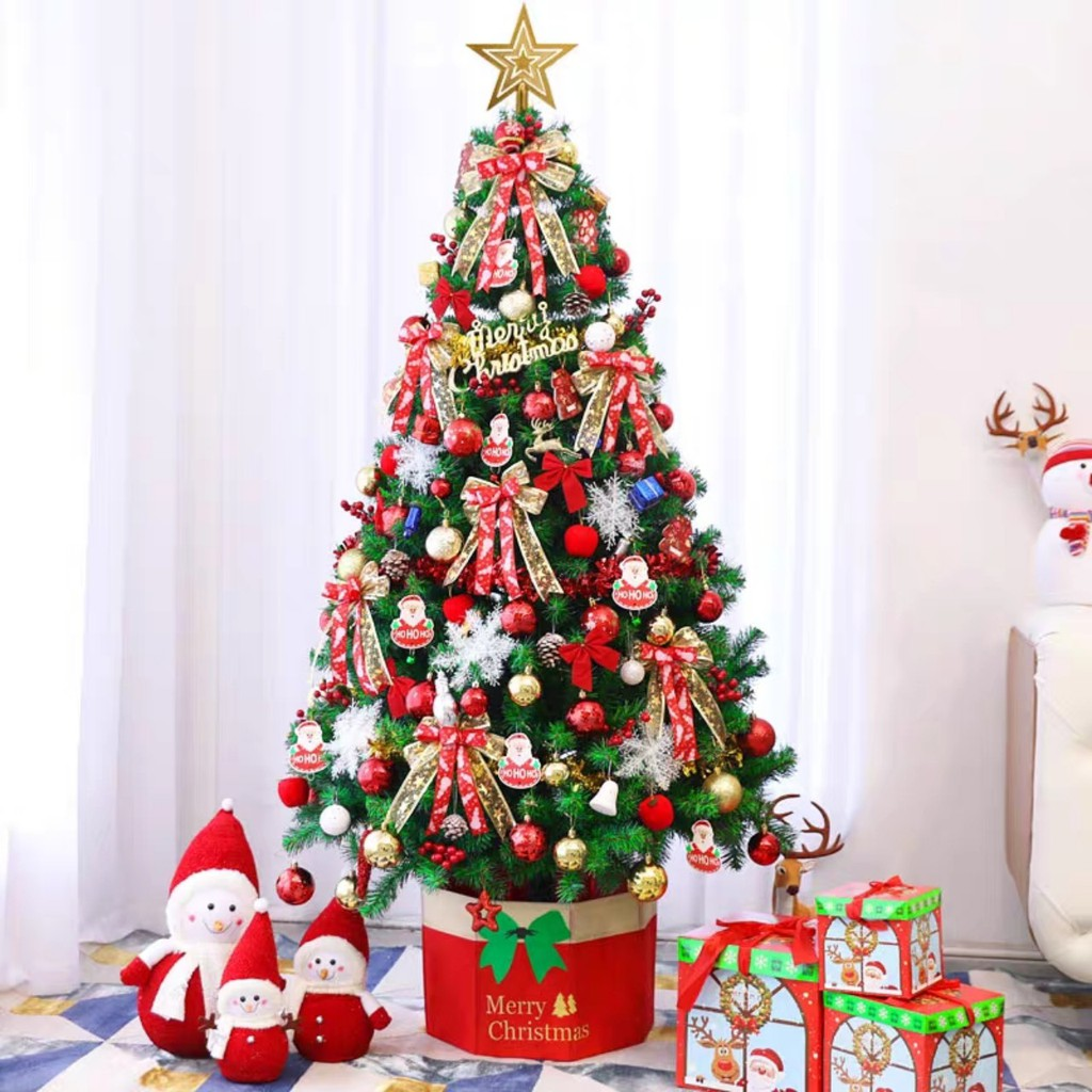 ( MẪU MỚI) cây thông noel giáng sinh ( cao 1,5m kèm phụ kiện ) chất liệu nhựa PVC -...