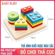 Đồ Chơi Thả Cọc Montessori – Gồm 4 Cọc, Mỗi Trục 4 Miếng, Chất Liệu An Toàn – Đồ Chơi Montessori, Đồ Chơi Gỗ, Do Choi Tha Coc, Thả Hình Luồn Cọc, Đồ Chơi Giáo Dục, Đồ Chơi Montessori Thả Cọc, Đồ Chơi Thả Hình – Baba Ruby
