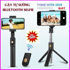 Gậy Chụp Hình Selfie Chuyên Nghiệp K07 kiêm giá đỡ điện thoại cao cấp Gậy chụp ảnh Bluetooth Selfie K07